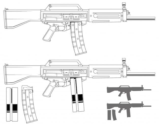 Grafisches modernes automatisches galilgewehr