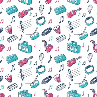 Grafisches musik-muster