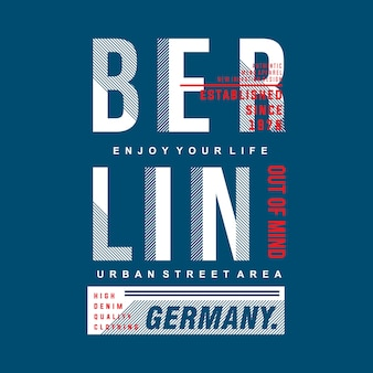 Grafisches typografiet-shirt berlins