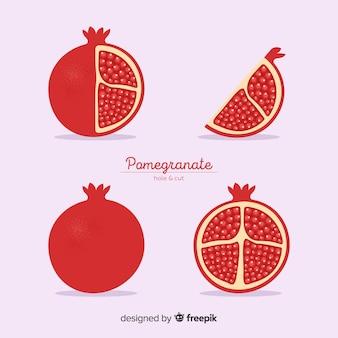 Granatapfel gesetzt