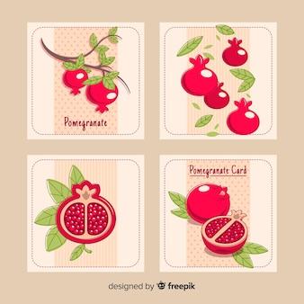 Granatapfel-kartensammlung