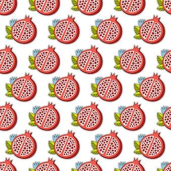 Granatapfel-Muster Hintergrund