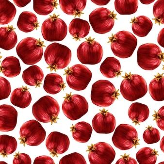 Granatapfel nahtlose muster