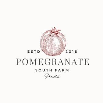 Granatapfel-südfarm-abstrakte zeichen-, symbol- oder logo-vorlage.