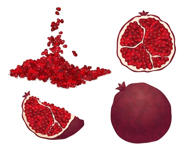 Granatapfel-symbole eingestellt