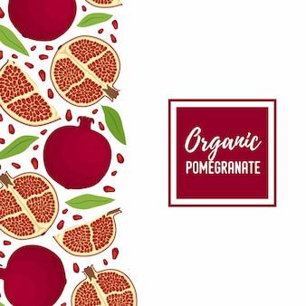 Granatapfel-werbebanner