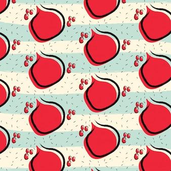 Granatapfelfrucht-musterhintergrund