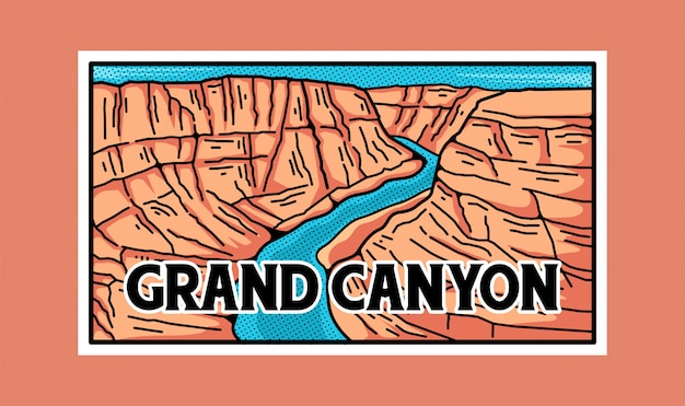 Grand canyon national park aufkleber.