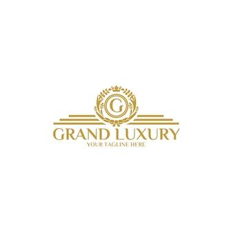 Grand luxus logo vorlage