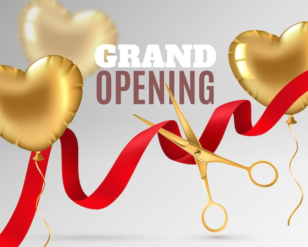 Grand opening banner design oder promotion flyer