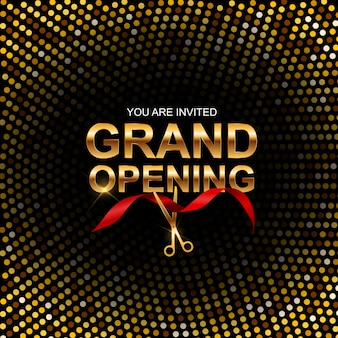 Grand opening banner einladung