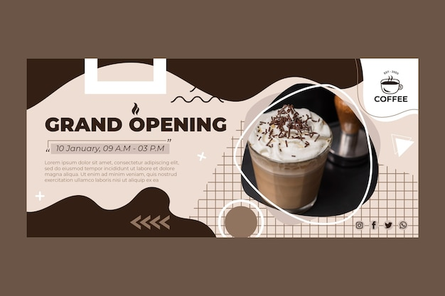 Grand opening kaffee banner