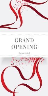 Grand opening sie sind eingeladen flyer