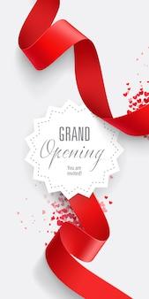 Grand Opening Sie sind eingeladen, zu beschriften