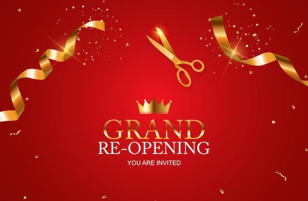 Grand re-eröffnungsgeschäft