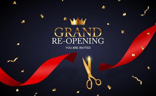 Grand re-eröffnungskarte business poster