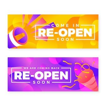 Grand wiedereröffnung banner thema