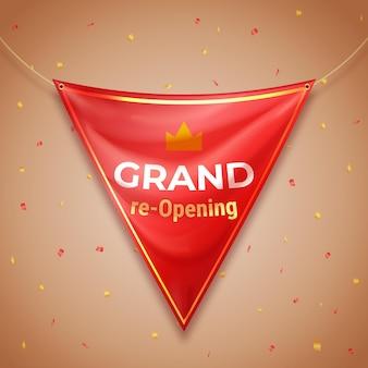 Grand wiedereröffnung hintergrunddesign