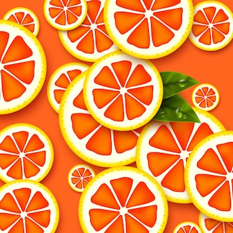 Grapefruit nahtloses muster