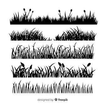 Grasrand-schattenbildansammlung getrennt