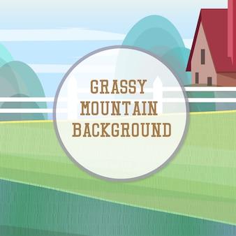 Grassy berg hintergrund