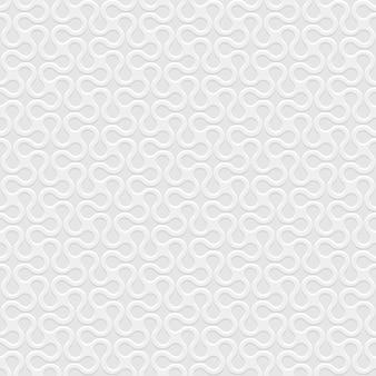 Grau 3d gebogenes geometrisches einfaches nahtloses muster
