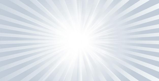Grau leuchtendes glänzendes banner mit herausplatzenden strahlen