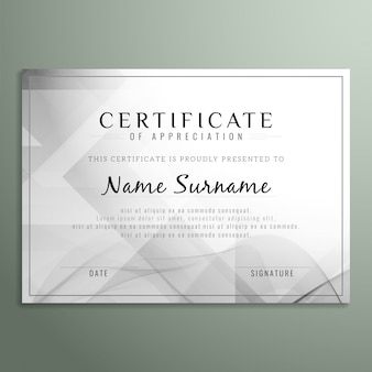Grau zertifikat design