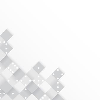 Graue blöcke auf leerem weißem hintergrundvektor