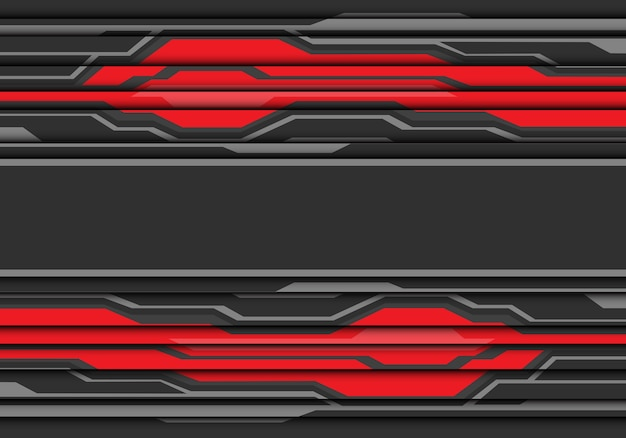 Graue fahne auf rotem polygonlinie- und -schattenhintergrund.