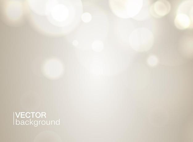 Graue farbe abstrakt mit bokeh und lichteffekten flach