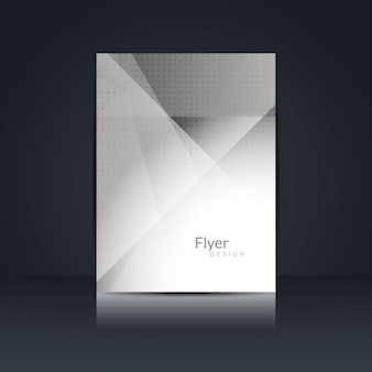 Graue farbe elegant flyer design