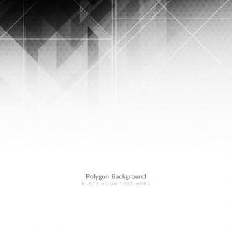 Graue farbe gepunktete polygonform hintergrund design