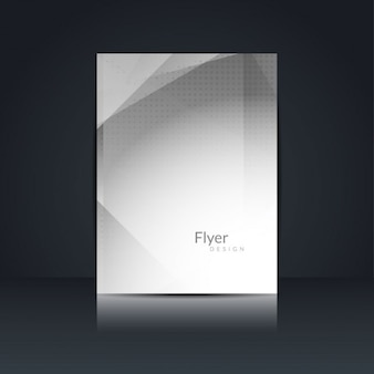 Graue farbe polygon flyer design