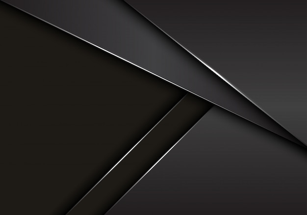 Graue graue metallische überschneidung auf dunklem leerstellehintergrund.