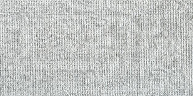 Graue leinwand mit realistischem raster, horizontaler hintergrund des vektorschmutzes. stoffstruktur