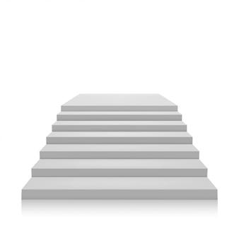 Graue leiter auf einem weißen hintergrund. isolieren. vektor-illustration