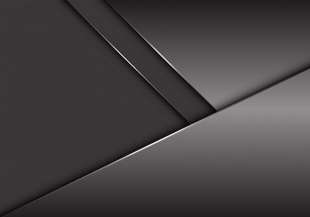 Graue metallische überschneidung auf grauem leerstellehintergrund.
