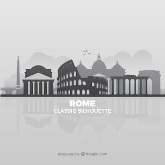 Graue skyline von rom