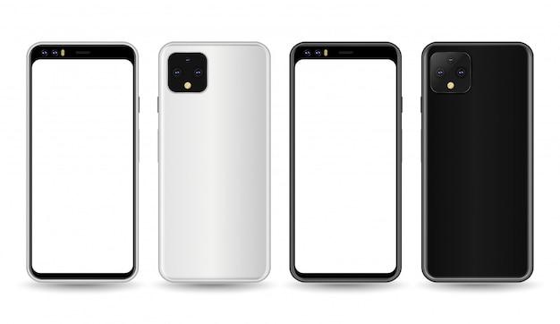 Graue und schwarze smartphone-präsentation