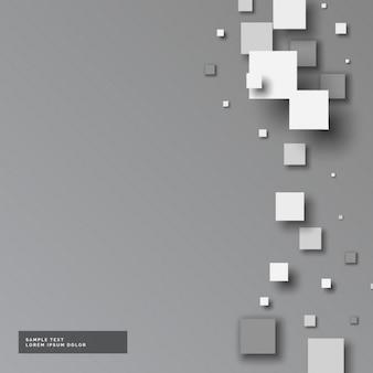 Grauen hintergrund mit kleinen quadraten in 3d-stil