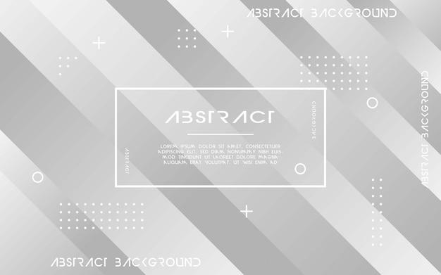 Grauer abstrakter geometrischer hintergrund. vektor-illustration.
