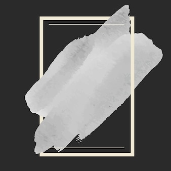 Grauer aquarellfahnen-designvektor