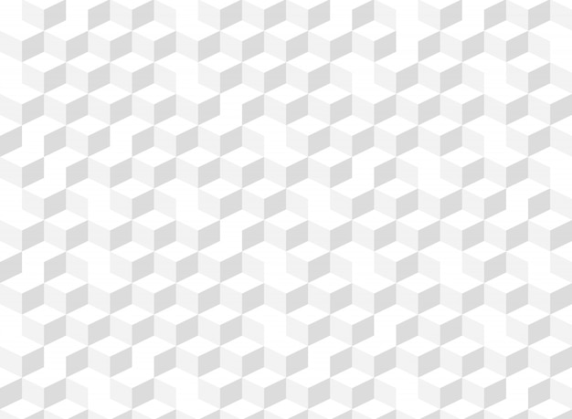 Grauer geometrischer musterhintergrund der abstrakten quadratischen würfelsteigung.