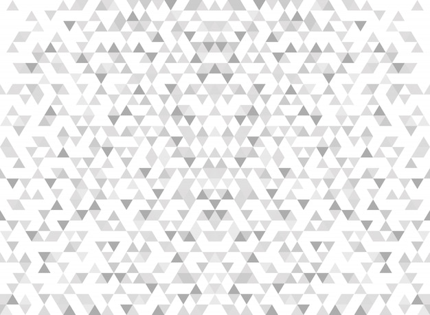 Grauer hintergrund der abstrakten modernen dreieckmuster-steigung.