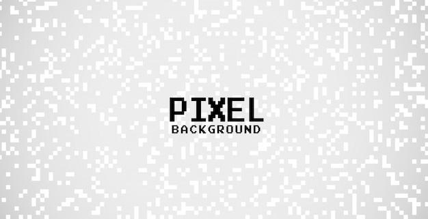 Grauer hintergrund mit weißem pixelpunktdesign