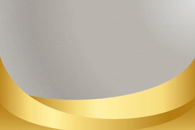 Grauer hintergrundvektor mit goldener welle