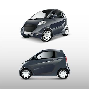 Grauer kompakter hybridautovektor