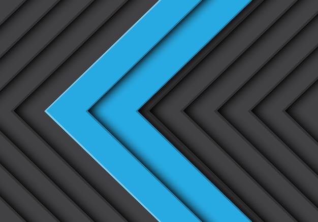 Grauer musterhintergrund des abstrakten doppelten blauen pfeiles.