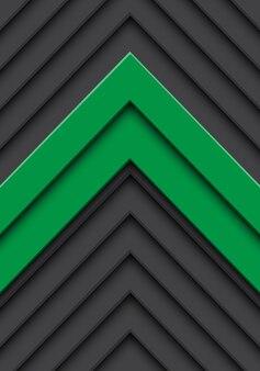 Grauer musterhintergrund des abstrakten grünen doppelpfeiles.
